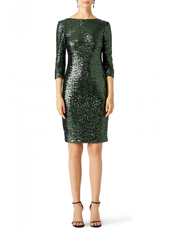 Emerald Sequin Sheath