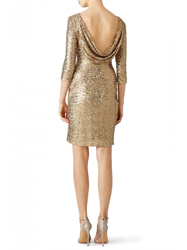 Gold Sequin Sheath