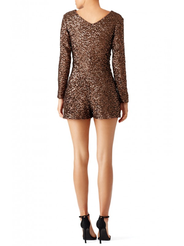 Antique Bronze Sequin Romper