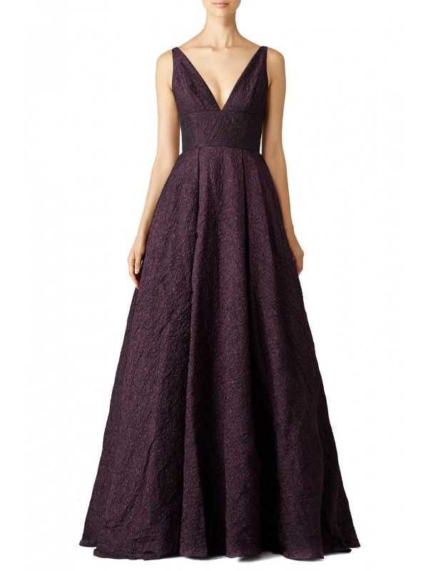 Burgundy Center Stage Gown