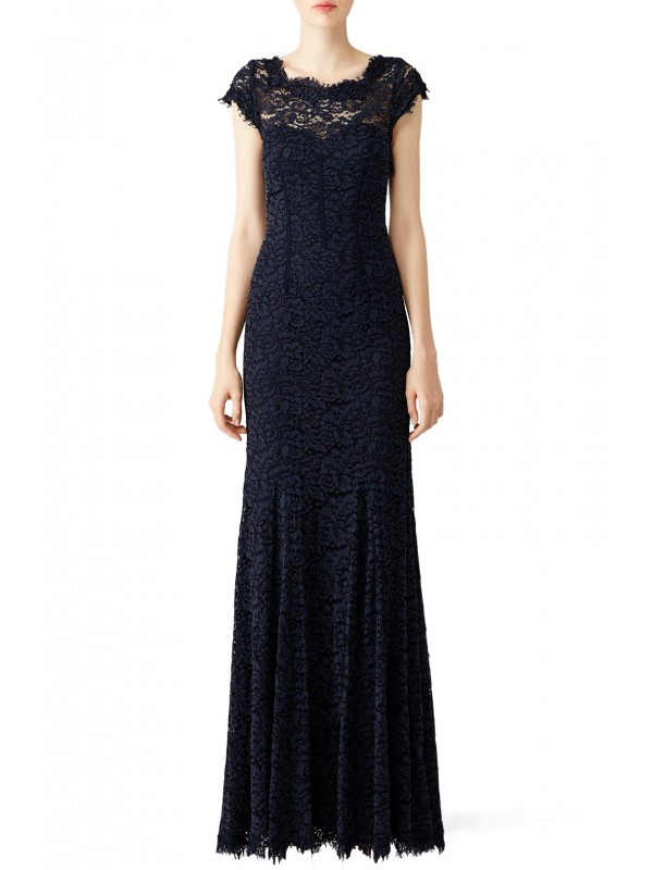 Glamorous in Lace Gown