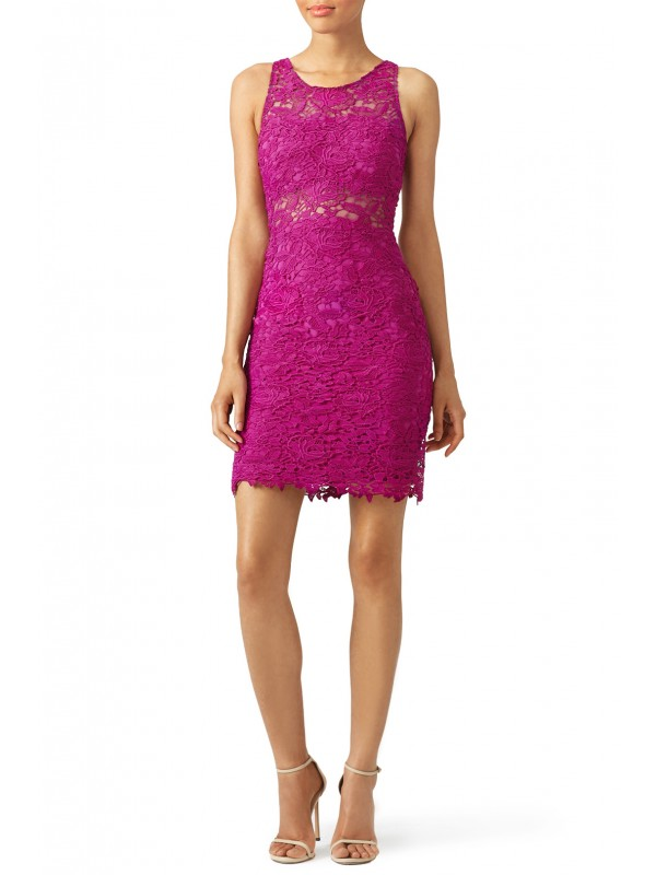 Mulberry Lace Sheath Dress