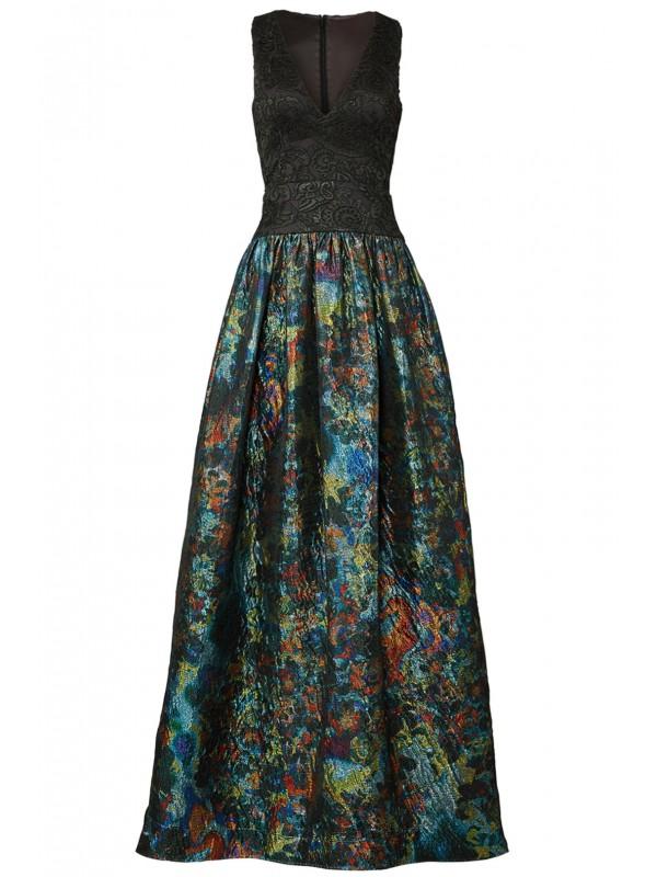 Teal Metallic Gown