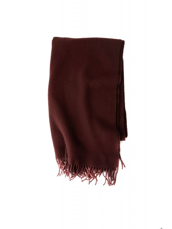 Fringed scarf dark wine