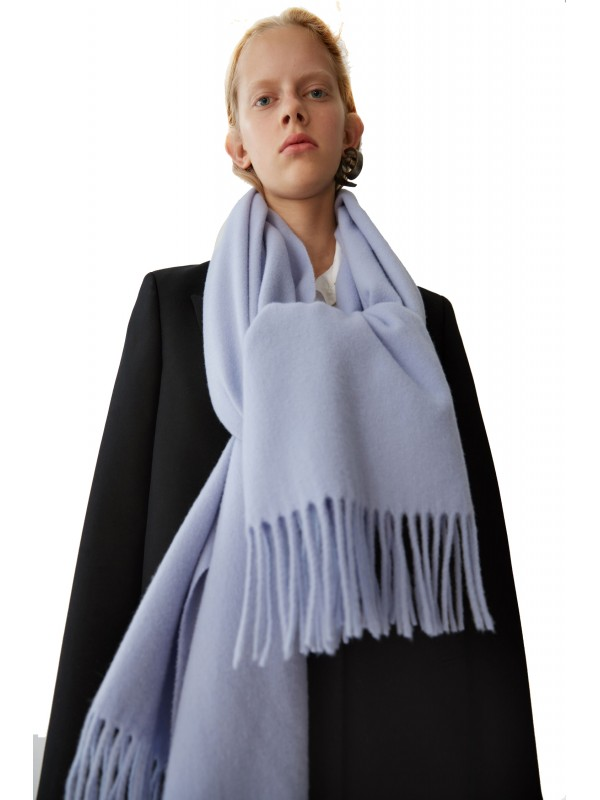 Fringed scarf denim blue