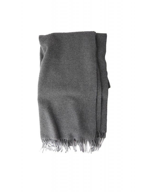 Fringed scarf grey melange