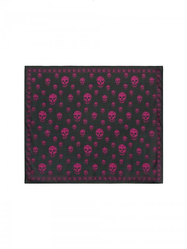 Classic Silk Chiffon SKULL Scarf purple