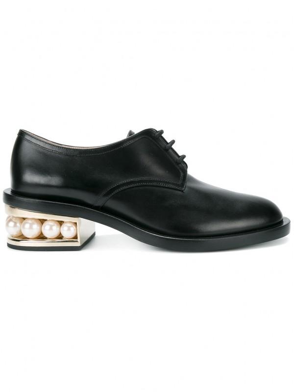 Gianvito Kirkwood Black Casati Pearl 35 derby shoe...