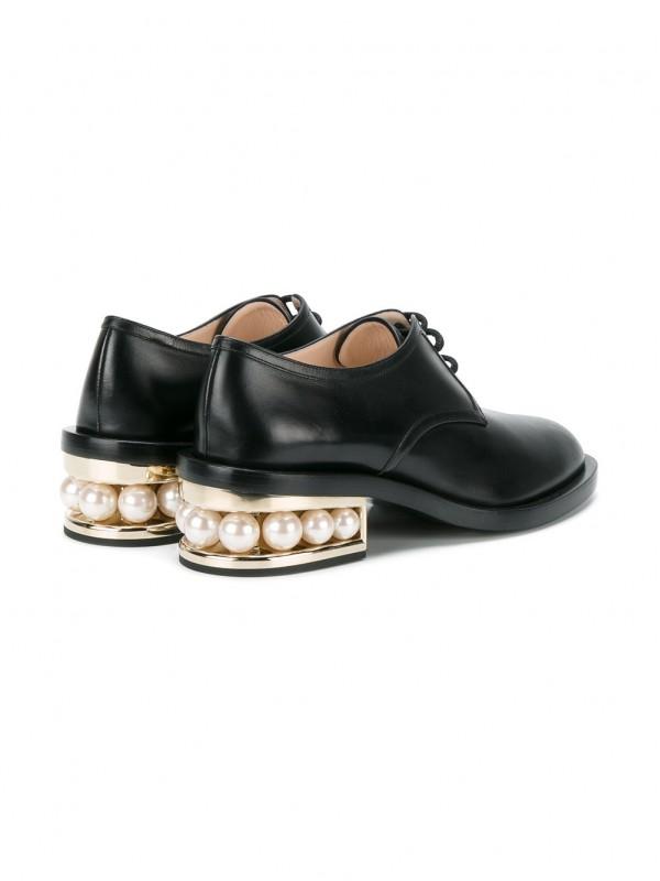 Gianvito Kirkwood Black Casati Pearl 35 derby shoes